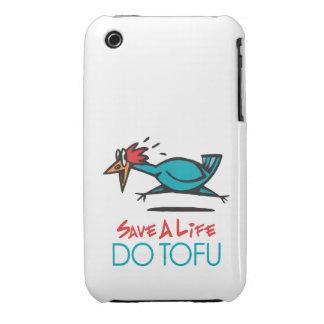 Humorous Tofu Design iPhone 3 Cover