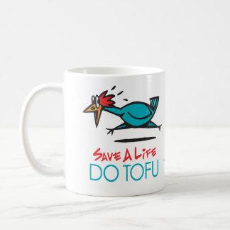 Humorous Tofu Design Coffee Mug