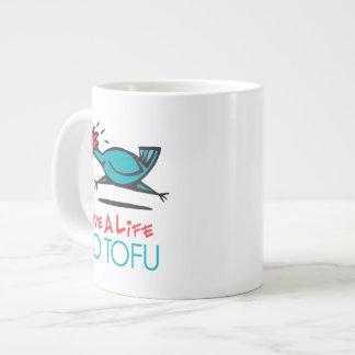 Humorous Tofu Design Giant Coffee Mug