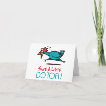 Humorous Tofu Design Holiday Card
