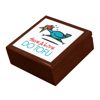 Humorous Tofu Design Jewelry Box