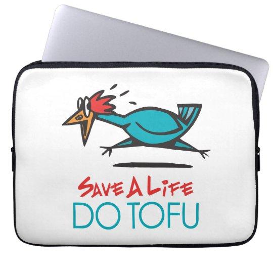 Humorous Tofu Design Laptop Sleeve