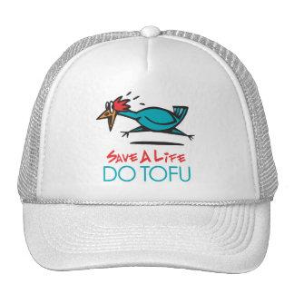 Humorous Tofu Design Mesh Hat