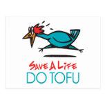Humorous Tofu Design Postcard