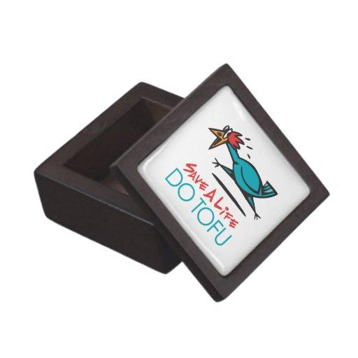 Humorous Tofu Design Premium Trinket Boxes