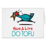 Humorous Tofu Design Stationery Note Card