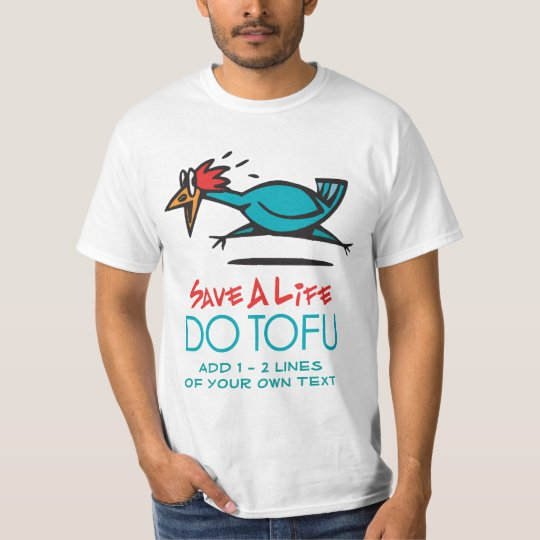 Humorous Tofu Design T-Shirt