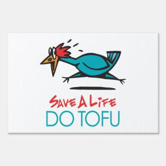 Humorous Tofu Design Lawn Sign
