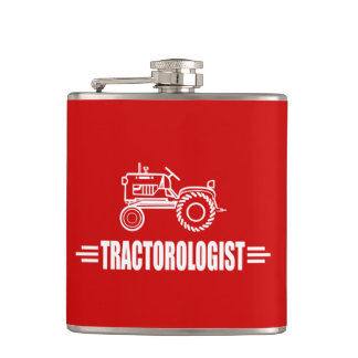 Humorous Tractor Lover Flask