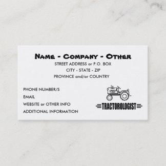 Humorous Tractor Racing Business Card