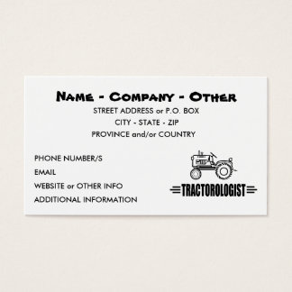 Humorous Tractor Racing Business Card