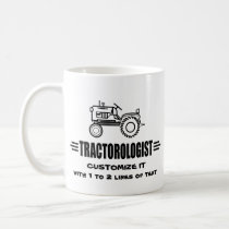Humorous Tractor Racing Coffee Mug