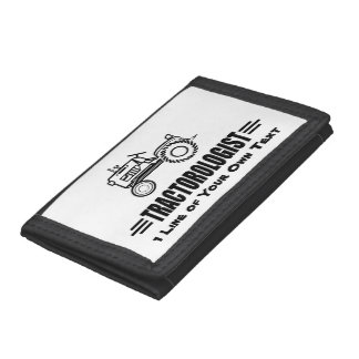 Humorous Tractor Racing Trifold Wallet