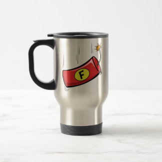 Humorous Travel Mug, F Bomb Dropping Travel Mug