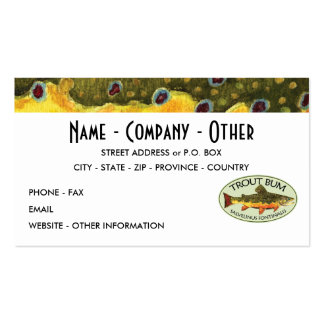 Humorous Trout Fishing Business Card Templates