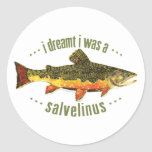 Humorous Trout Fishing Classic Round Sticker