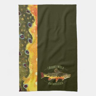 Humorous Trout Fishing Hand Towel