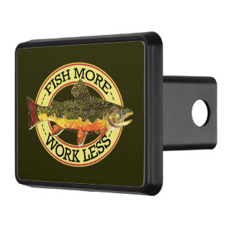Humorous Trout Fishing Hitch Cover