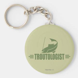 Humorous Trout Fishing Keychain