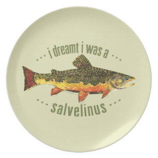 Humorous Trout Fishing Dinner Plates