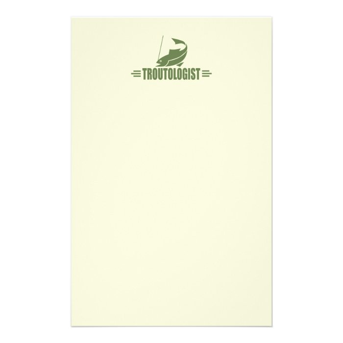 Humorous Trout Fishing Stationery