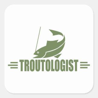 Humorous Trout Fishing Sticker