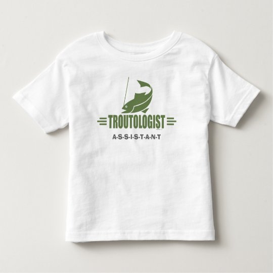 Humorous Trout Fishing Toddler T-shirt