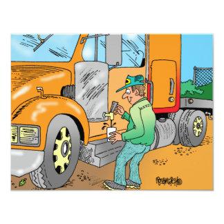 HUMOROUS TRUCKER CARTOON GIFTS CARD