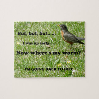 "Humorous twist to ""The Early Bird Gets the Worm"" Jigsaw Puzzle"