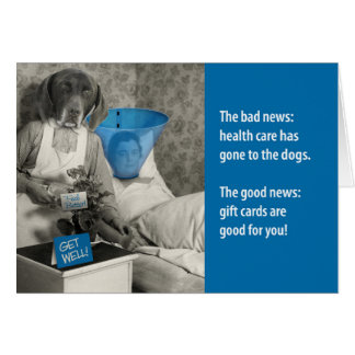 Humorous Vintage Get Well Gift Card