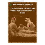 Humorous wife Christmas Card