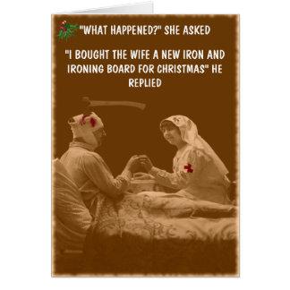 Humorous wife Christmas Greeting Card