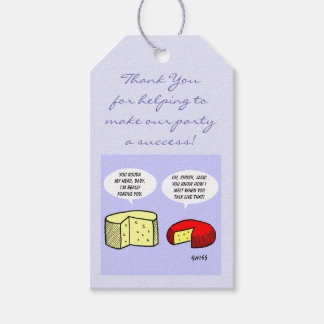 Humorous Wine and Cheese Tasting Party Favors Tags