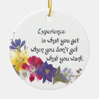 Humorous Wisdom Ceramic Ornament