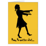 Humorous Woman Zombie Mother's Day Greeting Card
