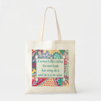Humorous Women's Inspiration Tote, Teabag Tote Bag