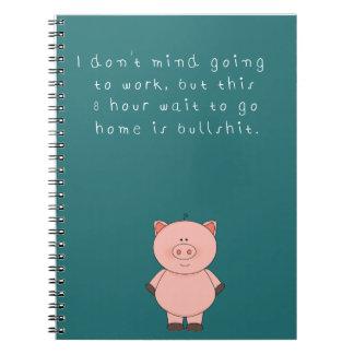 Humorous work notebook