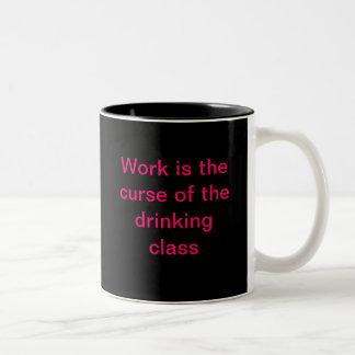 Humorous Working Woman Two-Tone Coffee Mug