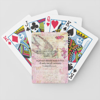 Humorous Yiddish Proverb about LIFE Bicycle Playing Cards