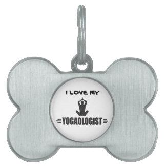 Humorous Yoga Pet Name Tag