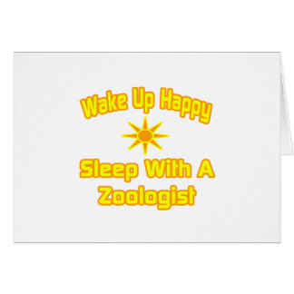 Humorous Zoologist Shirts and Gifts Greeting Card