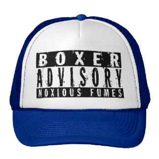 Humos nocivos consultivos del boxeador gorras