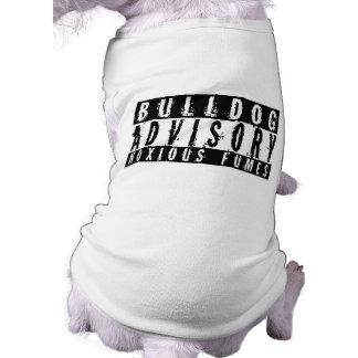 Humos nocivos consultivos del dogo camisetas mascota