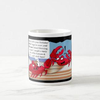 Humour Birthday Card with two crabs Coffee Mug