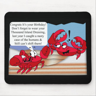Humour Birthday Card with two crabs Mouse Pad