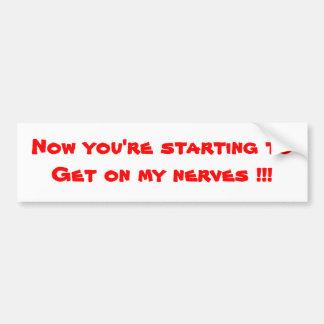Humour bumper stickers-do not tailgate bumper sticker
