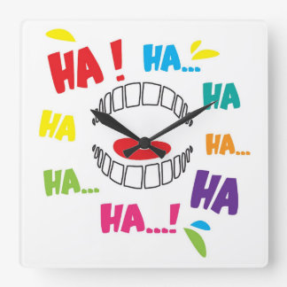 humour square wall clock