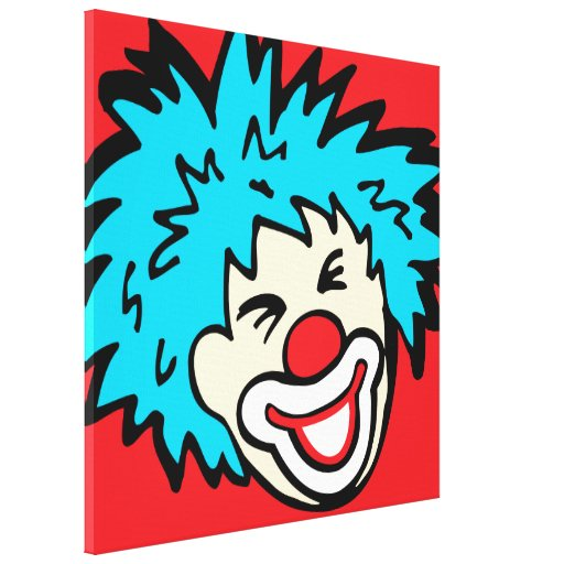 Humourous clown graphic canvas wrap print stretched canvas print