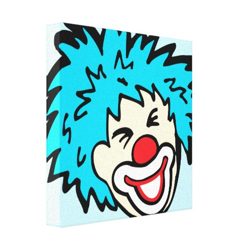 Humourous clown graphic canvas wrap print gallery wrapped canvas