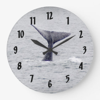 Hump Back Whale Tail Large Clock